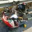 Pamukova Metin Tesisleri Önünde Motor kazası1012