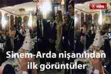 Arda Turan, Sinem Kobal nişanından ilk görüntüler