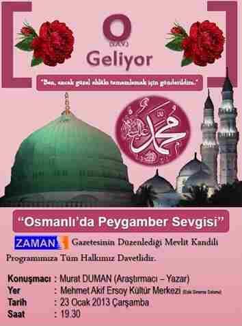 Osmanlıda peygamber sevgisi konulu konferans