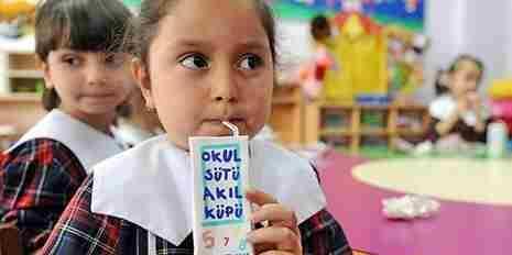 Okullarda 6 Milyon Öğrenciye Süt Dağıtılacak