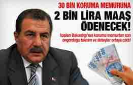 2 bin TL maaşla 30 bin koruma memuru alınacak