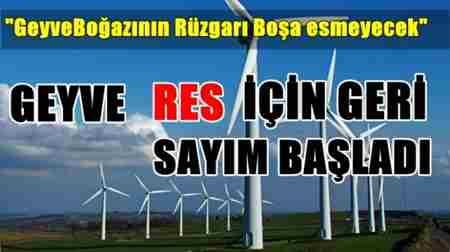geyve rüzgar enerjisi santralı