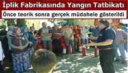 Geyve belediyesi itfaiyesi yabalı iplik fabrikası yangın tatbikatı 134