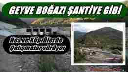 geyve boğazı baraj ve köprü inşaatı
