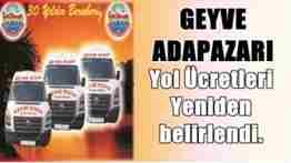 GEYVE KOOP YOLÜCRETLERİ ZAMLANDI