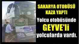 istanbula yolcu götüren sakarya sev otobüsü dilovası mevkiinde kaza yaptı