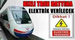 yht hattına elektrik verilecek