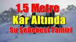 geyve bağlarbaşı köyünde kar altında  su şebekesi tamiratı 400