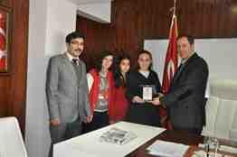 Başkan MUrat Kaya'dan Geyve Metem Öğrencilerine Plaket