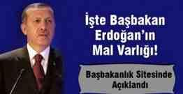 başbakan erdoğanın mal varlığı
