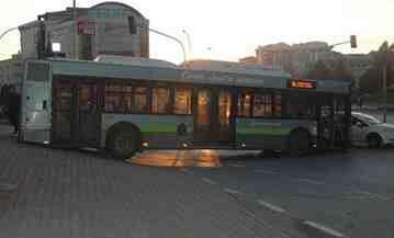 gebze otobüs asılı kaldı