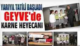 geyve gazipaşa ortaokulu yarıyıl karne töreni