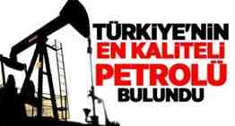 türkiyenin en kaliteli petrolü siirt te bulundu