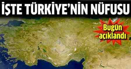 türkiyenin son nüfusu