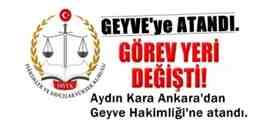 Ankara'dan Geyve Hakimliğine Atandı.