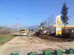 geyve belediyesi taraklı yolu yol genişletme çalışmaları