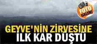 Geyve'nin Yükseklerine Yılın İlk Kar'ı Yağdı.