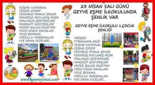 Esme Koyu Geyve 23 Nisan Ulusal Egemenlik Ve Cocuk Bayrami