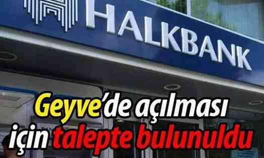 Geyve'ye Halk Bankası şubesi geliyor!