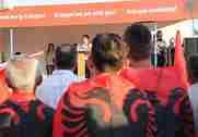 Arnavutlukta Erdoğana destek Mitingi.