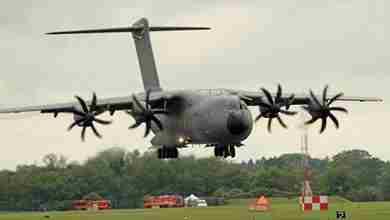 Airbus A400M yere cakildi-3