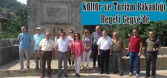 Kültür ve Turizm Bakanlığı Heyeti Geyve'yi Ziyaret Etti.
