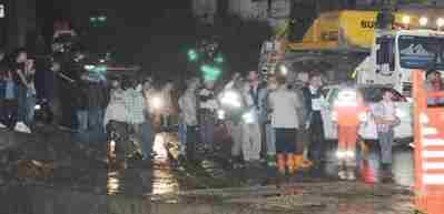 Rize'de sağanak yağış hayatı felç etti!