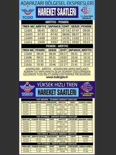 adapazari-istanbul-tren saatleri-yht-saatleri-