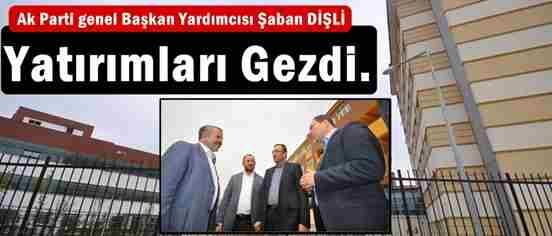 Milletvekili Dişli,İlçedeki Yatırımları Gezdi.