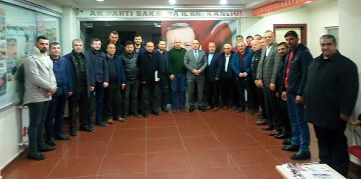 Ak Parti Geyve İlçe Teşkilatı İl Başkanı Kılıç'ı ziyaret etti
