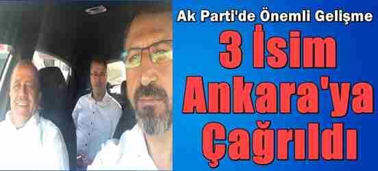 Geyve'den O isimler Ankara'ya Davet Edildi