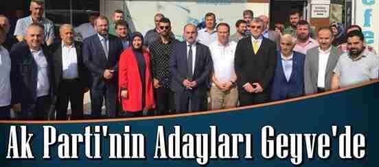 Ak Parti'nin Adayları Geyve'de