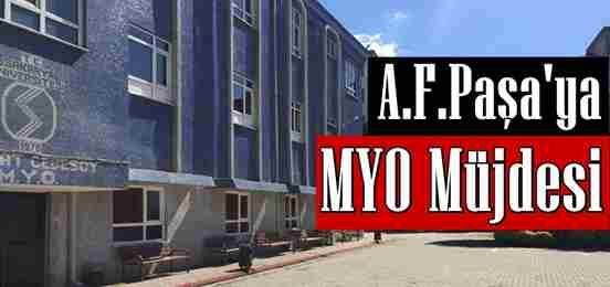 Alifuatpaşa'ya MYO Müjdesi