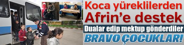 Koca Yüreklilerden Afrin'e destek