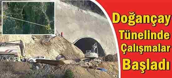 Doğançay Tünelinde Çalışmalar Başladı