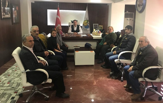 CHP İlçe Yönetiminden Başkan Kaya'ya Ziyaret
