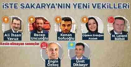 Sakarya'da İlk Sonuçlara Göre Milletvekili Dağılımı