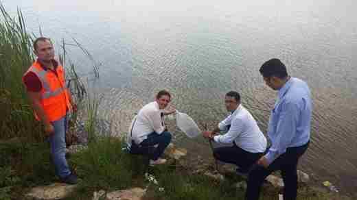 Akdoğan Göletine Balık Bırakıldı