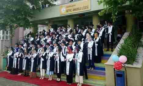 Geyve Anadolu Lisesinde Mezuniyet Sevinci