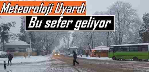 Meteorolojiden Sakarya için, 'Kar' açıklaması