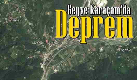 Geyve'de Deprem..