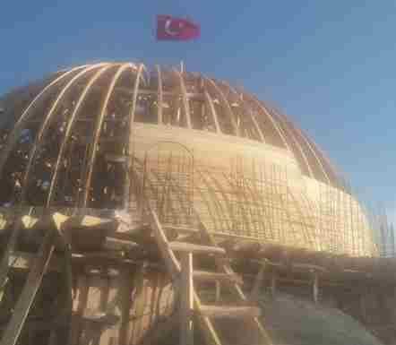 Karacaören Köyü Camii İnşaatı Kar Kış Devam Ediyor