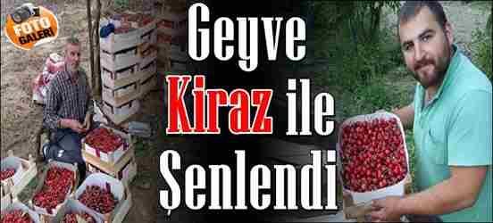 Geyve Kiraz'la Şenlendi.