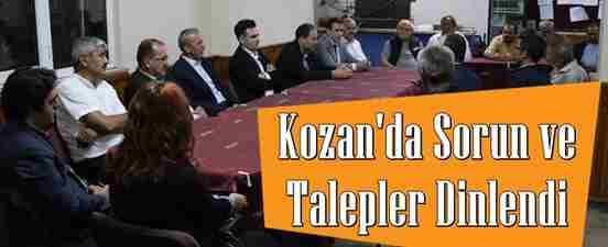 Kozan'da Sorun ve Talepler Dinlendi