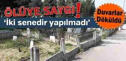 Geyve Mezarlığında İhata Duvarı Sorunu…