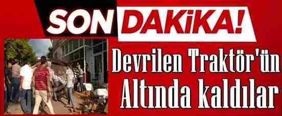 Geyve Umurbey Köyünde Traktör Kazası..