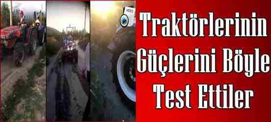 Traktörlerini arka arkaya bağlayıp gücünü böyle test ettiler..!