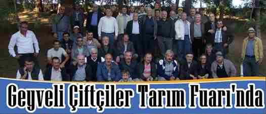Geyveli Çiftçiler Bursa Tarım Fuarında..