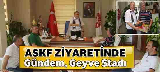 Geyvespor'un ASKF Ziyaretinde Gündem Geyve Stadı.