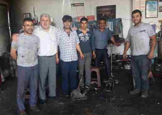 Kır, Küçük Sanayi Esnafını Ziyaret Etti